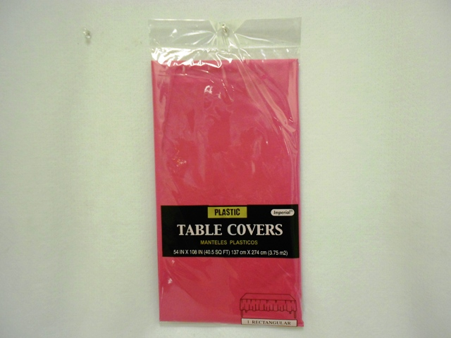 "S2845: Hot Pink Extra Heavy Duty Table Cover 54""x108"""