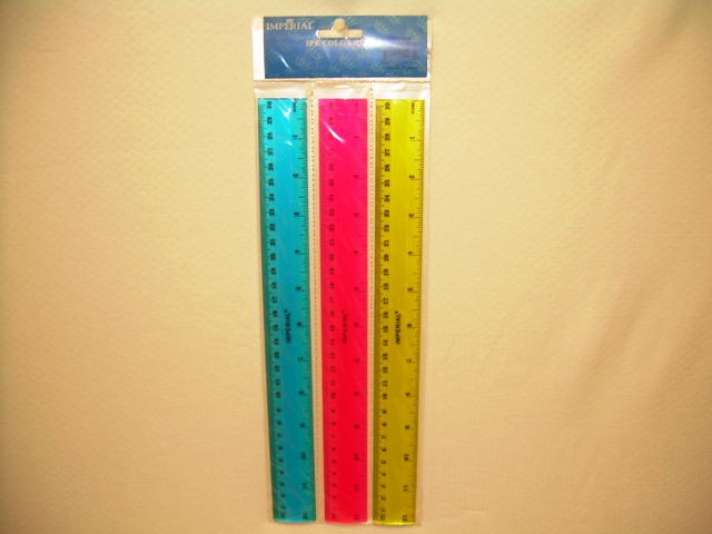 S2265- 3pk Ruler Assorted Colors