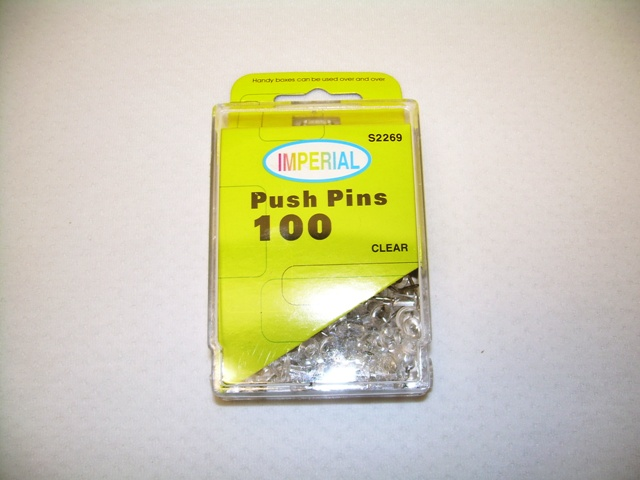 S2269- Push Pin Clear 100ct