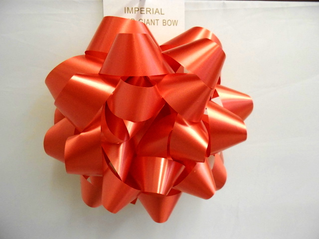 S7478: 9 Inch Red Giant Bow