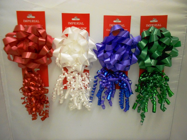 S7459: 2Pk Bow & Curly bow- Holiday